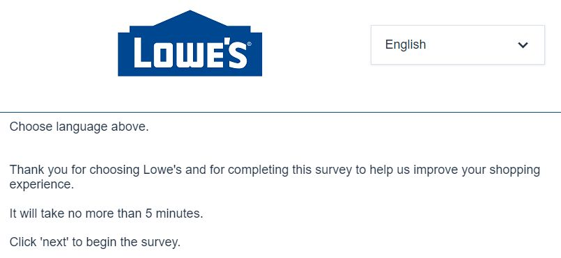 lowes.com survey
